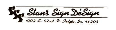 Old Business Card with Stan's Sign Design Logo
